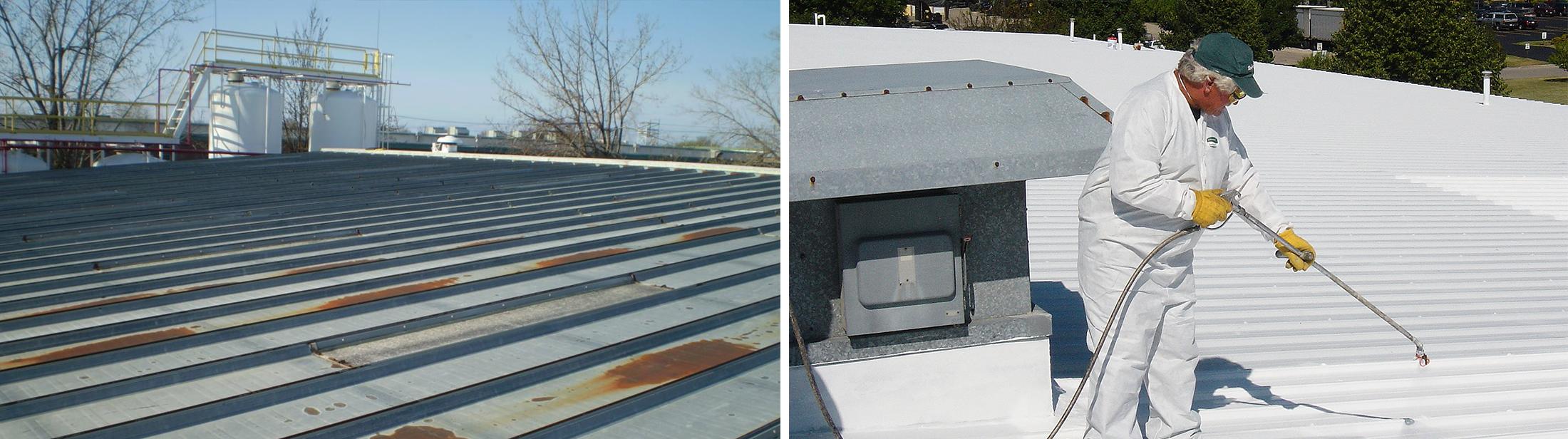 rusty roof header